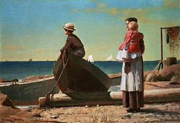 Dad's Coming!, 1873 by Winslow Homer | Painting Reproduction