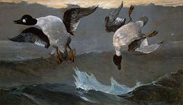 Right and Left, 1909 by Winslow Homer | Painting Reproduction