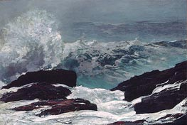 Maine Coast, 1896 by Winslow Homer | Painting Reproduction