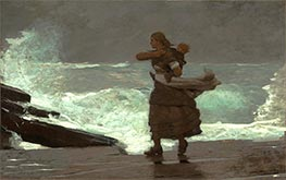 The Gale, c.1883/93 by Winslow Homer | Painting Reproduction