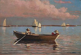 Gloucester Harbor, 1873 by Winslow Homer | Painting Reproduction