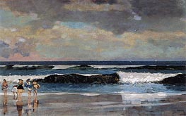 On the Beach, 1869 by Winslow Homer | Painting Reproduction