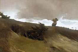 The West Wind, The West W by Winslow Homer | Painting Reproduction