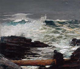 Driftwood, 1909 by Winslow Homer | Painting Reproduction