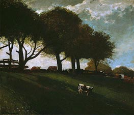 Twilight at Leeds, New York, 1876 by Winslow Homer | Painting Reproduction