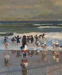 Beach Scene, c.1869 by Winslow Homer | Painting Reproduction