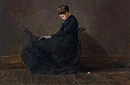Portrait of Helena de Kay, c.1872 by Winslow Homer | Painting Reproduction