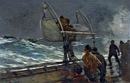 The Signal of Distress, 1890 by Winslow Homer | Painting Reproduction