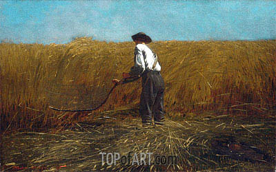 The Veteran in a New Field, 1865 | Winslow Homer | Gemälde Reproduktion