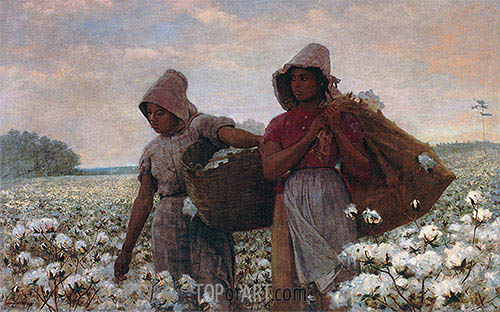 The Cotton Pickers, 1876 | Winslow Homer| Painting Reproduction
