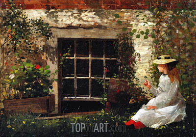 The Four-Leaf Clover, 1873 | Winslow Homer | Painting Reproduction