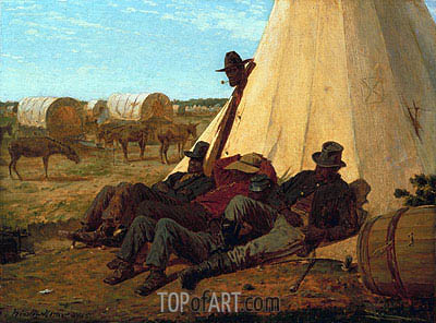 The Bright Side, 1865 | Winslow Homer | Painting Reproduction