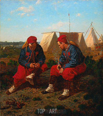 The Briarwood Pipe, 1864 | Winslow Homer| Painting Reproduction