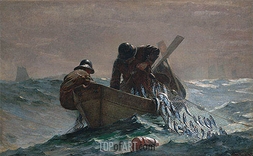The Herring Net, 1885 | Winslow Homer | Painting Reproduction