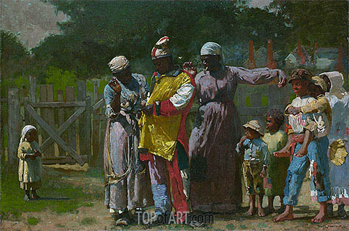 Dressing for the Carnival, 1877 | Winslow Homer | Painting Reproduction
