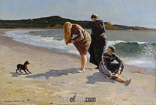 Eagle Head, Manchester, Massachusetts (High Tide), 1870 | Winslow Homer| Painting Reproduction