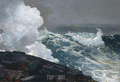 Northeaster, 1895 | Winslow Homer| Painting Reproduction
