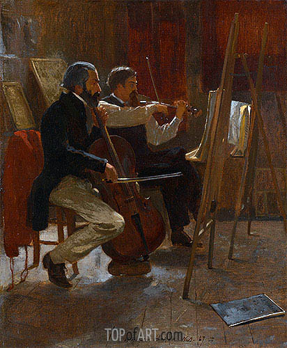 The Studio, 1867 | Winslow Homer | Painting Reproduction