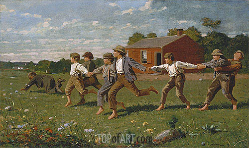 Snap the Whip, 1872 | Winslow Homer| Gemälde Reproduktion