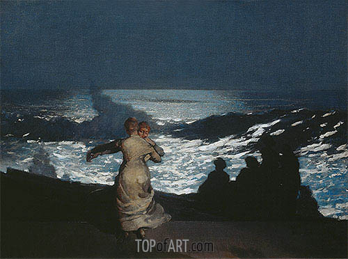A Summer Night, 1890 | Winslow Homer | Painting Reproduction