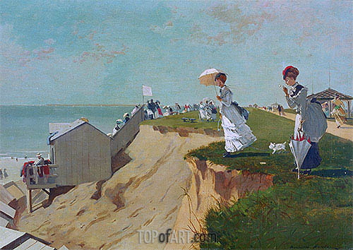 Long Branch, New Jersey, 1869 | Winslow Homer| Painting Reproduction