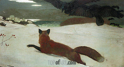 Fox Hunt, 1893 | Winslow Homer| Painting Reproduction