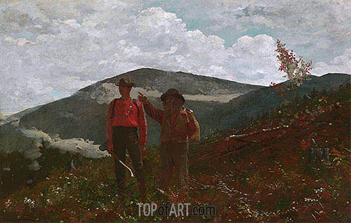 The Two Guides, 1876 | Winslow Homer | Gemälde Reproduktion