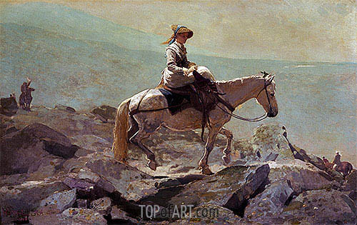 The Bridle Path, White Mountains, 1868 | Winslow Homer| Painting Reproduction