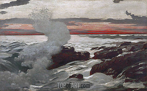 West Point, Prout's Neck, 1900 | Winslow Homer| Gemälde Reproduktion