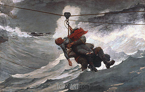 The Life Line, 1884 | Winslow Homer| Gemälde Reproduktion
