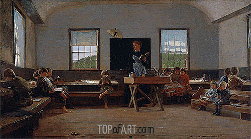 The Country School, 1871 | Winslow Homer | Gemälde Reproduktion