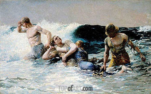 Undertow, 1886 | Winslow Homer| Painting Reproduction