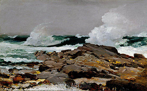 Eastern Point, 1900 | Winslow Homer| Painting Reproduction