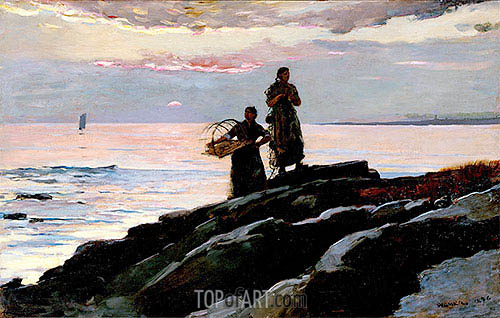 Saco Bay, 1896 | Winslow Homer | Gemälde Reproduktion