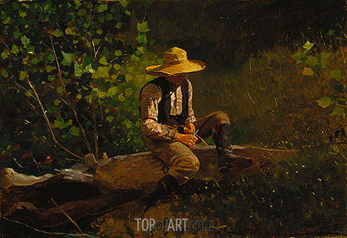 The Whittling Boy, 1873 | Winslow Homer | Gemälde Reproduktion