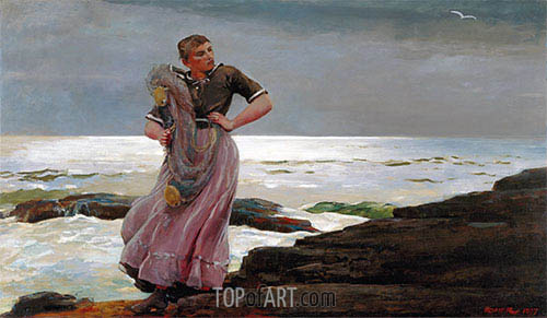 A Light on the Sea, 1897 | Winslow Homer| Gemälde Reproduktion