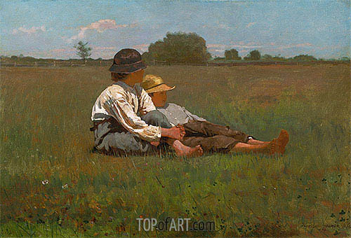 Boys in a Pasture, 1874 | Winslow Homer | Gemälde Reproduktion