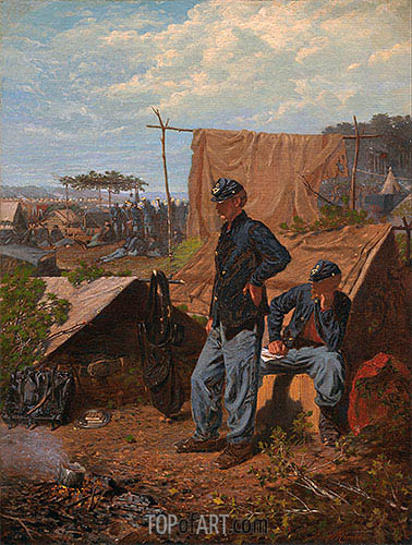 Home, Sweet Home, c.1863 | Winslow Homer| Painting Reproduction