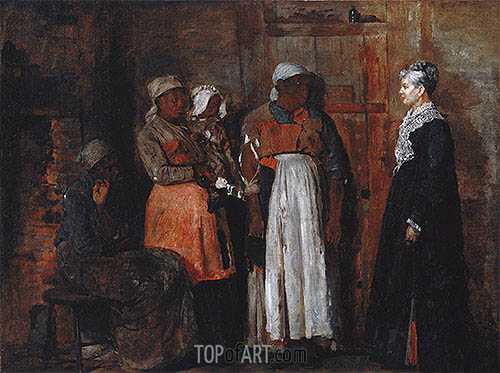 A Visit from the Old Mistress, 1876 | Winslow Homer | Painting Reproduction