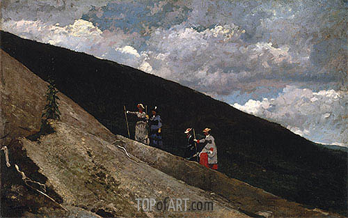 In the Mountains, 1877 | Winslow Homer | Painting Reproduction