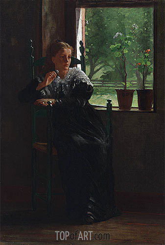 At the Window, 1872 | Winslow Homer| Painting Reproduction