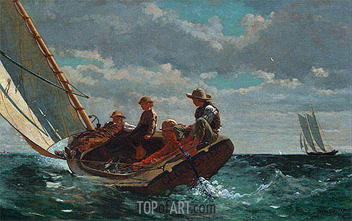 Breezing Up (A Fair Wind), c.1873/76 | Winslow Homer | Painting Reproduction
