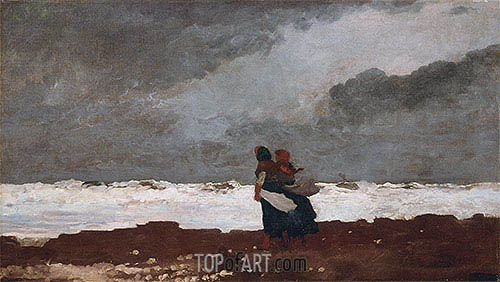 Two Figures by the Sea, 1882 | Winslow Homer| Painting Reproduction