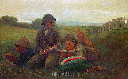 The Watermelon Boys, 1876 | Winslow Homer| Painting Reproduction
