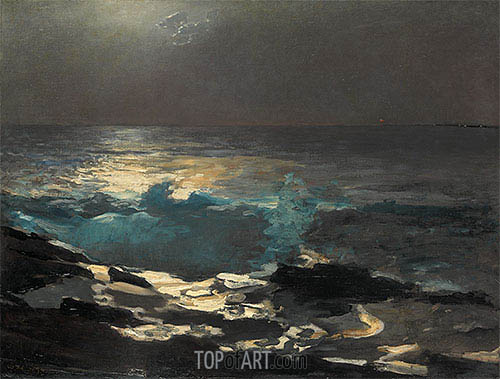 Moonlight, Wood Island Light, 1894 | Winslow Homer| Painting Reproduction