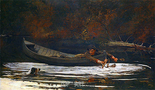 Hound and Hunter, 1892 | Winslow Homer | Painting Reproduction