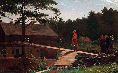 Old Mill (The Morning Bell), 1871 | Winslow Homer | Painting Reproduction