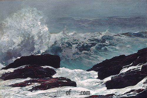 Maine Coast, 1896 | Winslow Homer| Gemälde Reproduktion