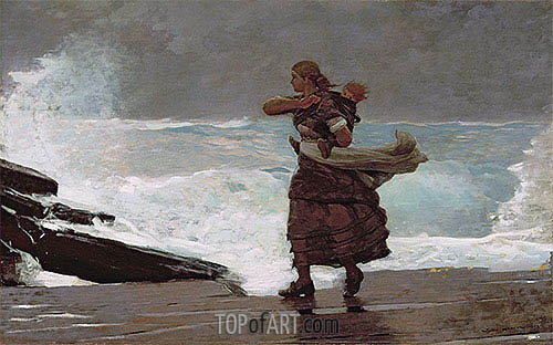 The Gale, c.1883/93 | Winslow Homer| Painting Reproduction