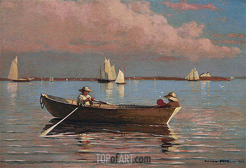 Gloucester Harbor, 1873 | Winslow Homer | Painting Reproduction